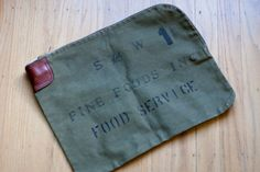 Vintage Canvas Bank Bag - figure out how to sew one of these.