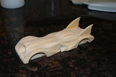 fastest pinewood derby car design ever | After painting and adding in the nozzle: