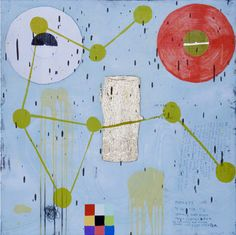 """Squeak Carnwath, """"Same Boat"""", 2006, Intaglio, lithography, woodcut, ed. 24, 35 1/2 by 35 1/2 inches"""
