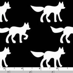 Copenhagen Print Factory House Designer - Silhouettes Organic - Foxes in Black