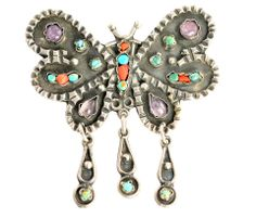 Mexican Taxco Matl Style Sterling Silver Butterfly Pendant Brooch Pin – Yourgreatfinds