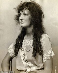 "Miss America 1924 - ""beauty"" was so different then. No fake tans, or bleached teeth... would love our society to value inner and natural beauty the way it used to be."