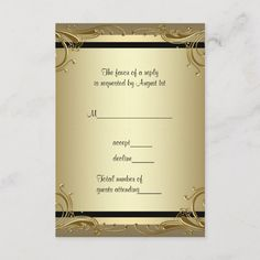 Shop Elegant Gold Wedding Anniversary Party RSVP created by InvitationCentral. Anniversary Party Invitations, Gold Wedding Invitations, Wedding Rsvp, Anniversary Parties, Invitation Ideas, 50th Anniversary, Invite, Happy Anniversary Quotes, Golden Wedding Anniversary