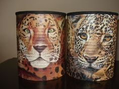 Coffee Can Crafts, Tin Can Crafts, Diy And Crafts, Decoupage Tins, Pringles Can, Decorated Flower Pots, Recycle Cans, Altered Tins, Aluminum Cans
