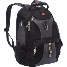 Amazon.com  SwissGear Travel Gear ScanSmart Backpack 1900 (Black)  Hiking  Daypacks 1df06915ee3ec