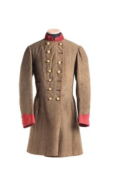 Uniform Coat worn by Captain Willis Wilkinson (Charleston, SC) of Company C, 1st Regiment, South Carolina Regulars. Wilkinson later served on General Henry Heth's Division Staff in the Army of Northern Virginia. Charleston Museum