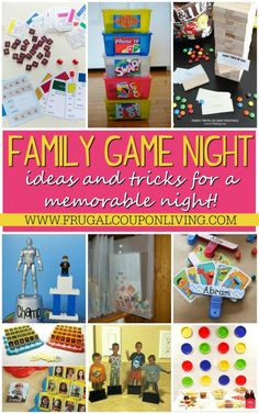 Memorable Family Game Night Ideas - these family game night hacks might make your game night never the same! Details on Frugal Coupon Living.