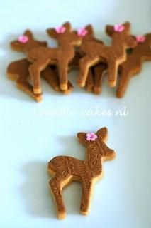 i'm making these cookies for the party... i'll add a red nose for rudolph, a red bow for claurice, a butterfly for bambi, a flower for faline