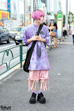 Nosuke, 18 years old, fashion student | 15 August 2016 | #Fashion #Harajuku (原宿)…
