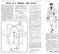 Draft for Magyar Styled Jacket, 1951: http://www.cutterandtailor.com/forum/index.php?showtopic=2467=24297=0