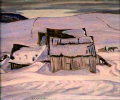 A Y Jackson - Quebec Landscape - 1920 (Group of Seven) Emily Carr, Canadian Painters, Canadian Artists, Group Of Seven Paintings, Tom Thomson Paintings, Winter Painting, Canadian History, Of Montreal, Modern Artists