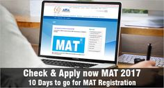 MBAUniverse: Check & Apply now MAT 2017 – 10 Days to go for MAT...