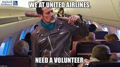 """Negan's new gig with United. """"Eeny, meeny, miny, moe""""..."""