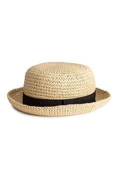 Sombrero de paja - Natural - MUJER  cdc3b63085b