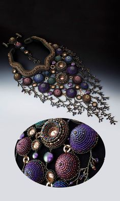 Jewelry Design - Bib-Style Necklace with Seed Beads and Swarovski Crystal - Fire Mountain Gems and Beads: