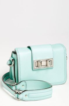 "Currently coveting this Rebecca Minkoff ""box-mini"" crossbody bag, in mint. Beautiful Handbags, Beautiful Bags, Mini Crossbody Bag, Fashion Bags, Style Fashion, Purse Wallet, Purses And Handbags, Rebecca Minkoff, Designer"
