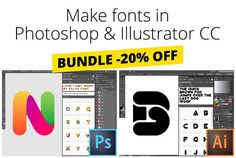 Easily create your own fonts! With Fontself Maker Bundle for PS & AI by Fontself on @creativemarket