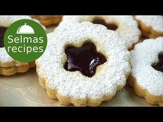 Linzer cookies sušienky vianočné pečivo výučba krok za krokom - YouTube Linzer Cookies, Jam Cookies, Beignets, Biscuits, Shortbread, Christmas Cookies, Doughnut, Donuts, Sweet Treats