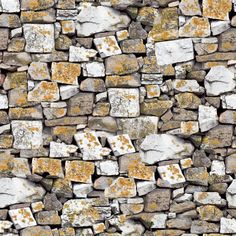 Seamless stony wall background. (ancient, architect, architecture, backdrop, background, brickwork, brown, chaotic, close, close-up, closeup, cobble, cobblestone, color, construction, design, detail, exterior, grey, laying, masonry, material, moss, natural, old, pattern, revetment, rock, rough, rubble, seamless, solid, stone, stonemason, stonewall, stonework, structure, surface, texture, textured, tile, wall, wallpaper, weathered, white, yellow)