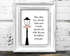 Narnia Quote Wall Print Printable Childrens Nursery Art Home Decor Digital File Download Movie Book Wisdom spring winter bedroom