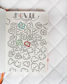Movie collection for bullet Journal