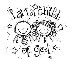 god helps me coloring page | Melonheadz LDS illustrating: I am a child of God