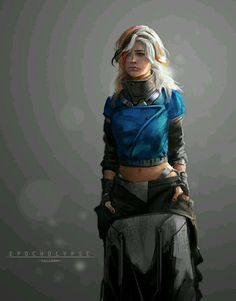 Epocholypse Sketch Week Joshua Calloway on ArtStation at… Character Concept, Character Art, Character Ideas, Concept Art, Cyberpunk Girl, Elisa Cavaletti, Warrior Girl, Sci Fi Characters, Shadowrun