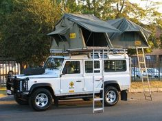 Twin Roof Top Tent - Car Camping - Land Rover Defender 110