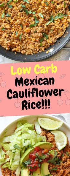 Low Carb Mexican Cauliflower Rice - 10Recipes10 | 10Recipes10