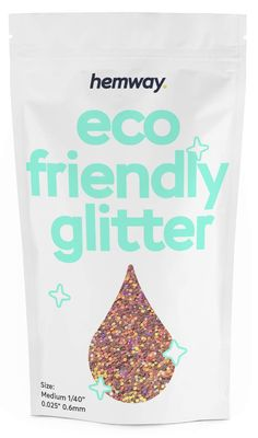 """Hemway Eco Friendly Biodegradable Glitter 100g / 3.5oz Bio Cosmetic Safe Sparkle Vegan for Face, Eyeshadow, Body, Hair, Nail and Festival Makeup, Craft - 1/40"""" 0.025"""" 0.6mm - Rose Gold Holographic >>> You can find out more details at the link of the image. (As an Amazon Associate I earn from qualifying purchases)"""