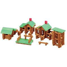 $44.99 - The 300-pieces is great for your child to discover, learn, and create while they play. This classic Tumble Tree Timbers Building Set is ideal to create more detailed buildings. It is perfectly designed for little hands. All wooden-pieces include roof slats, roof supports, chimney and much more. Comparable to Lincoln Logs Brand for a fraction of the cost. Eco-friendly, solid wood from renewable forests. Water-based paints; safer for the environment than acrylics. Kid-safe, water-bas...