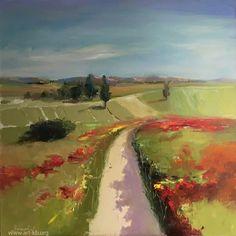 field, oilpainting, painting, painter, poppy, field of poppies, painting, oilpainting, neshkovaart