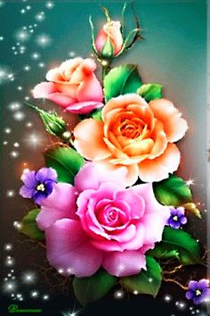 Solve Foto animada jigsaw puzzle online with 40 pieces Beautiful Rose Flowers, Flowers Gif, Beautiful Flowers Wallpapers, Flowers Nature, Pretty Flowers, Flower Images, Flower Pictures, Flower Art, Blue Roses Wallpaper