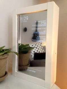How to build a mirror with a built in computer, PC för Alla (Swedish only). Raspberry Pi Projects, Maker Culture, Magic Mirror, Diy Projects To Try, Arduino, Floating Nightstand, Glass Art, Home Improvement, Diy Crafts