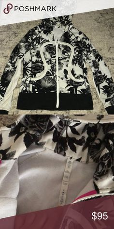 Lululemon fleece floral size 6 hoodie sold out Gently used lululemon fleece hoodie. Sold out and hard to find. Size 6. lululemon athletica Tops Sweatshirts & Hoodies