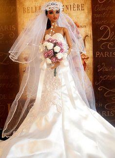 Barbie Wedding Dress, Wedding Doll, Couture Wedding Gowns, Barbie Dress, Wedding Bride, Bridal Gowns, Wedding Dresses, Wedding Attire, Beautiful Barbie Dolls