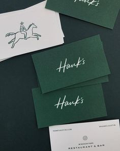 Hank's Austin Business Card Design | restaurant brand, logo, business identity inspiration