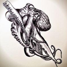 #Octopus #art #tattoo