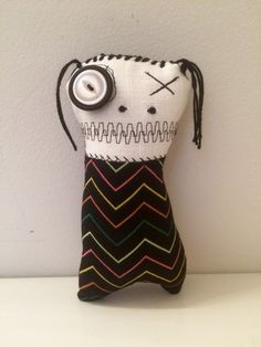 Eleanore the monster Plush Art Doll- By Jen Musatto