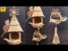 Diy Crafts - DIY Hanging Showpiece with Jute and Plastic bottle Diy Home Crafts, Crafts To Sell, Decor Crafts, Jute Flowers, Diy Flowers, Twine Crafts, Yarn Crafts, Plastic Bottle Crafts, Plastic Bottles