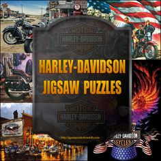 Harley Davidson Puzzles  Are you a fan? http://jigsawpuzzlesforadults.com/harley-davidson-puzzles/