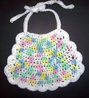 How To Make A Snowman Baby Bib Xmas Crochet Patterns