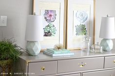 sarah m. dorsey designs: Grasscloth Mat + Succulent Prints + Walls Republic