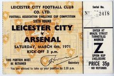 1971 FA CUP ROUND 6. LEICESTER...