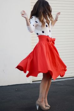 Christmas Red, Skirt by @Leanne Barlow (leannebarlow.com)