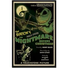 The Nightmare Before Christmas Retro Alternative Movie Poster Print... (£16) ❤ liked on Polyvore featuring home, home decor, wall art, movie home decor, inspirational posters, movie posters, motivational posters and inspirational wall art