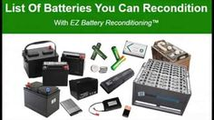 Batteries For An Off-Grid Energy System - EZ Battery Reconditioning #Batteryreconditioning