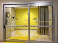 Colored Graphics Designed and Installed by Spokane Sunscreen at Local Children's Hospital