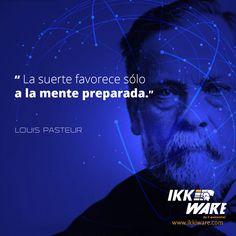 Frases de Ciencia #LouisPasteur #Frases #ciencia #mente #preparacion #suerte #trabajo #motivacion