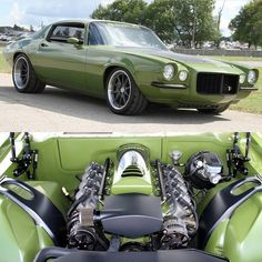 """1970 CHEVROLET CAMARO """"GRINCH"""", features a 602hp LS3 engine with a Bowler 5-speed transmission."""